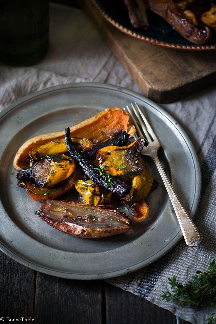 Légumes d'hiver rôtis au miel et thym - BonneTable