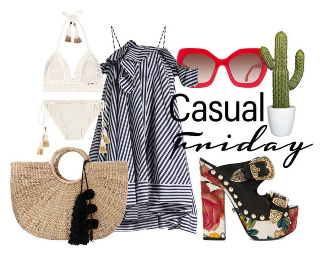 Casual Friday by illetilmote on Polyvore featuring MSGM, SHE MADE ME, FAUSTO PUGLISI, JADEtribe and Alice + Olivia