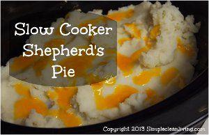 Cooker Cheddar-Topped Shepherd's Pie Recipe is an easy shepherd's pie...