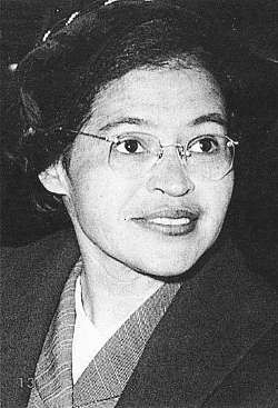 "Rosa Louise McCauley Parks was an African-American civil rights activist, whom the United States Congress called ""the first lady of civil rights"" and ""the mother of the freedom movement"".  Rosa Parks - ""Each person must live their life as a model for others""."