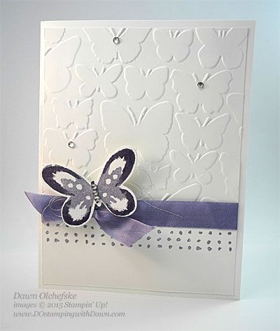 HSDT Fun Fold #5: Watercolor Wings Tunnel Card