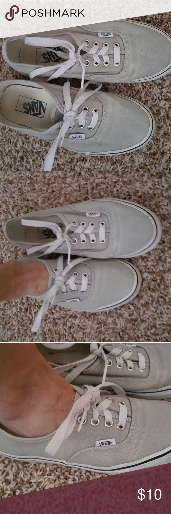 Vans tennis shoes Vans grey canvas shoes Vans Shoes Sneakers