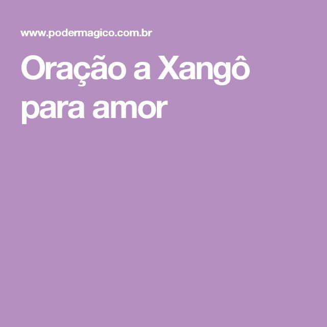 Oração a Xangô para amor