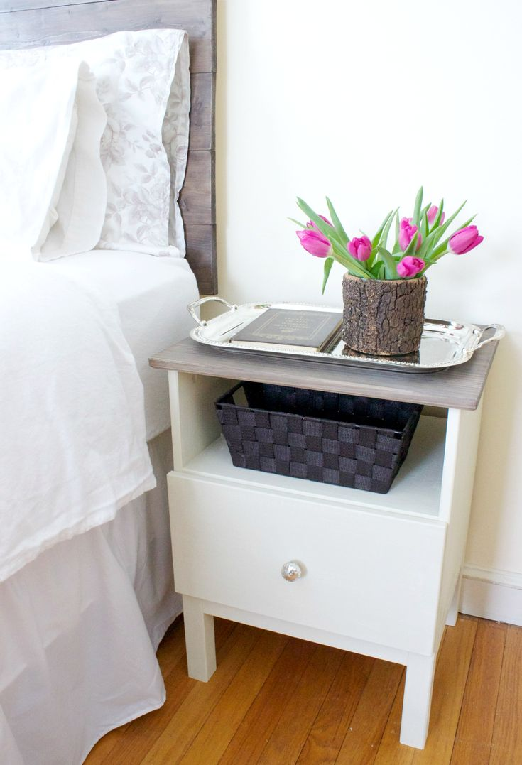 ikea tarva bedside table hack. Black Bedroom Furniture Sets. Home Design Ideas