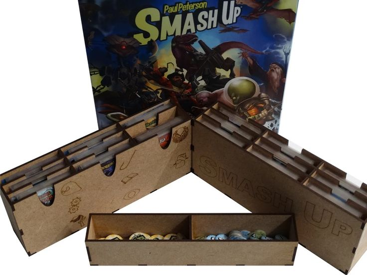 Boardgame / Juegos de Mesa SMASH UP storage solution  Inserto para el SMASH UP   info: withoutmess.wom@gmail.com
