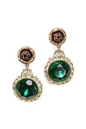 Luxe Vintage Emerald Earrings $34.00 www.hearts.com