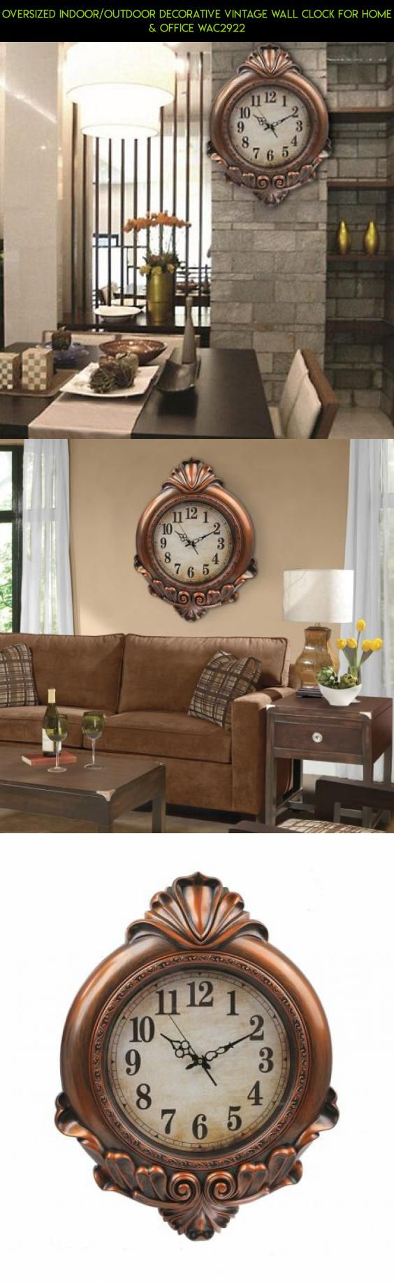 Best 25 outdoor wall clocks ideas on pinterest pandora oversized indooroutdoor decorative vintage wall clock for home office wac2922 kit amipublicfo Image collections