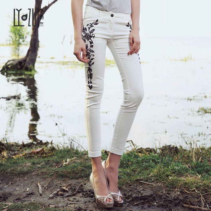 Elegant design, embroidered, women fashion pants