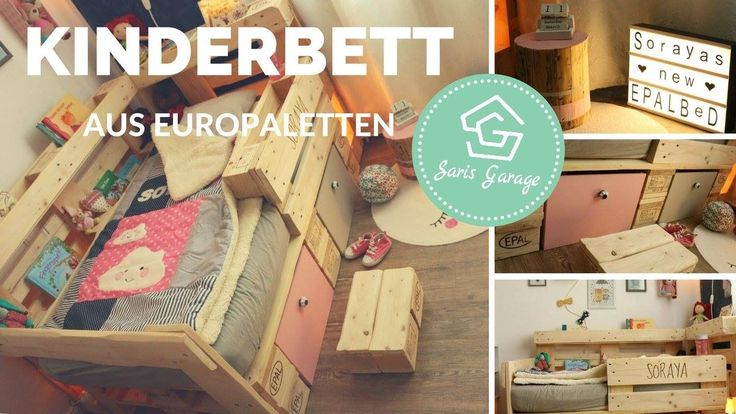 Palettenbett Für Kinder Selber Bauen   Kinderbett Aus Europaletten   Bet...  UpcyclingAlterFor ChildrenDo It Yourself