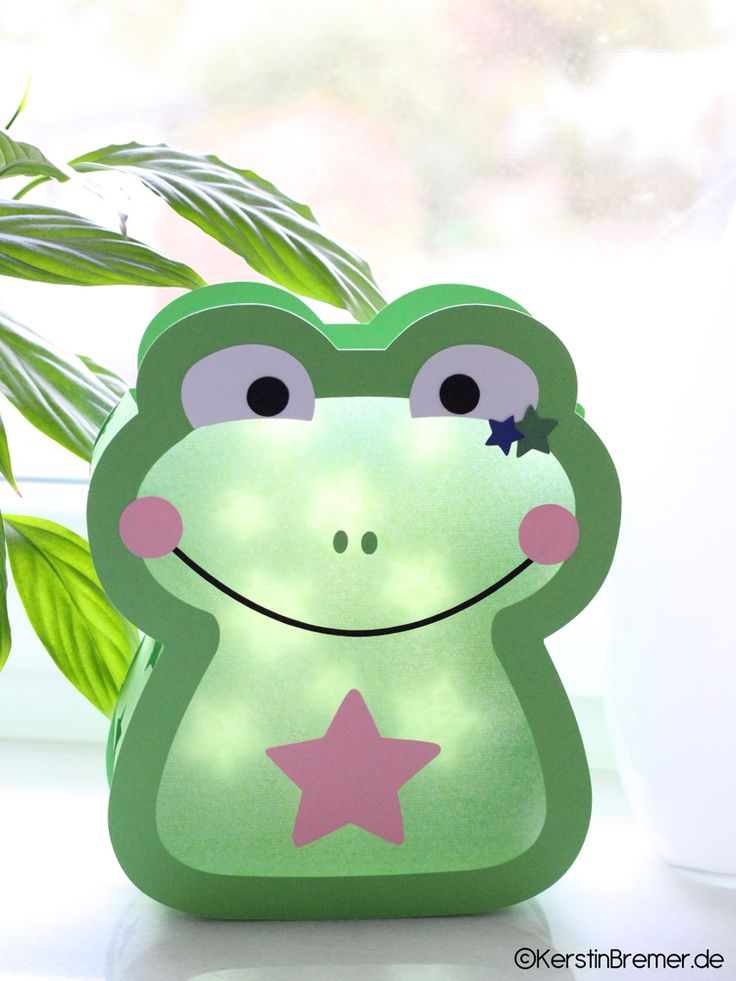 Ebook / Bastelanleitung Frosch Sterne Laterne