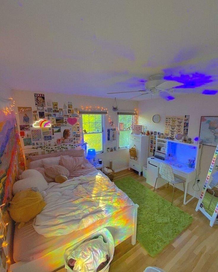 aesthetic inspo bedroom y2k indie soft bed grunge colors