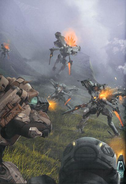 Spartan IV Fireteam engages Promethean Knights.