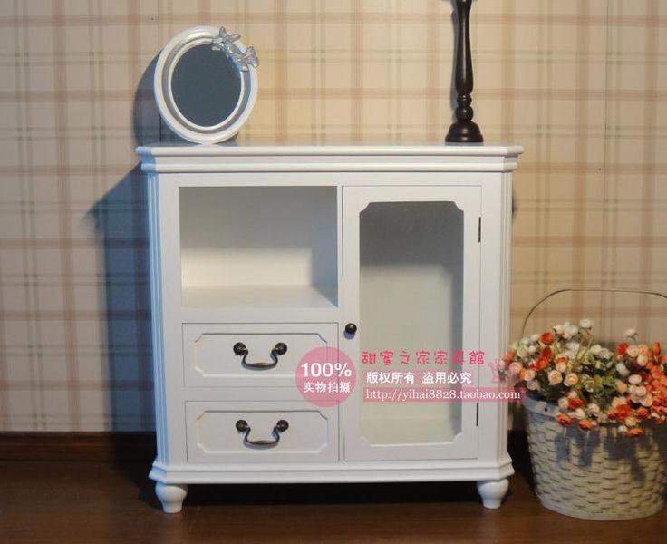 Европейский белый сад буфет древесины одной двери винный шкаф шкафчики, шкафы Для Хранения Раздел кабинет витрина