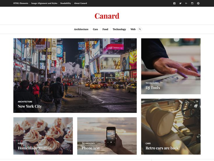 Canard — Free WordPress Themes
