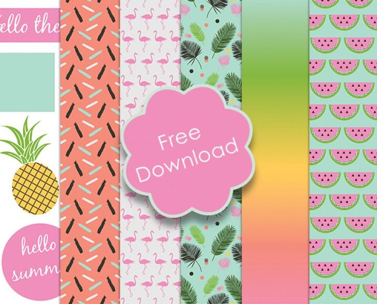 FREE Printable Summer Themed Papers