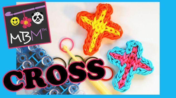 Rainbow Loom Band Cross Charm | Tutorial on How to Make