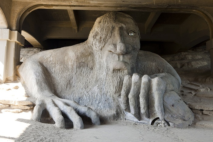 The bridge troll in Seattle. I've actually been here!