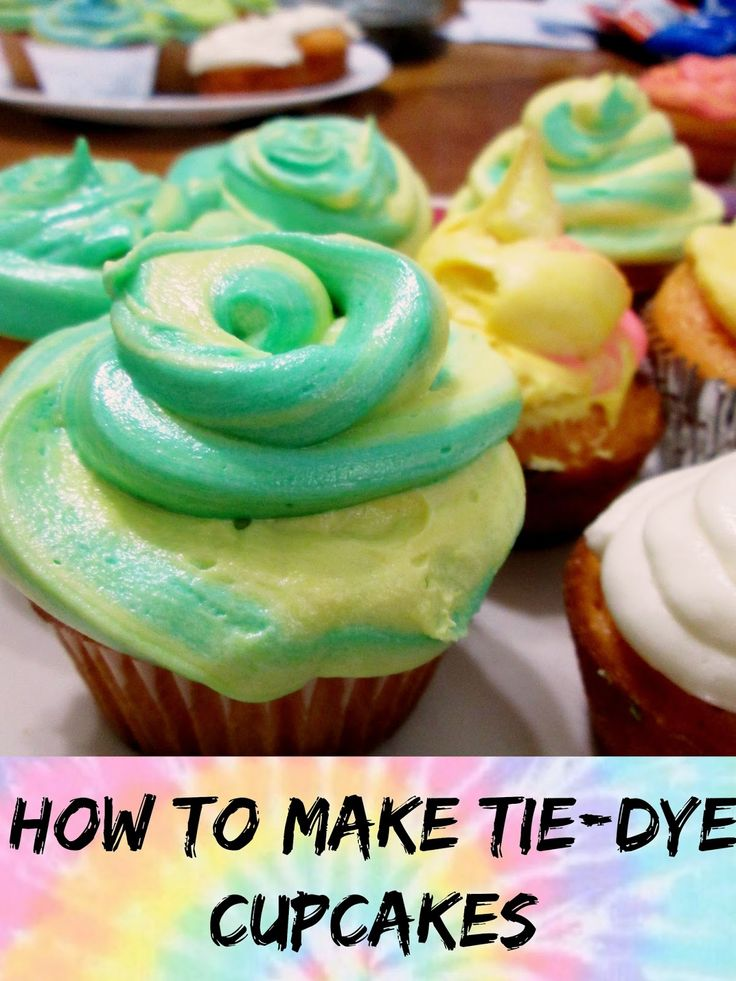 Unique Geek: Tie-Dye Cupcake Recipe Wanna bake something adorable and a show-stopper at your next party? Check out these tie-dye cupcakes! The best part? It's super easy! #recipes #cooking #howto #tie-dye #food
