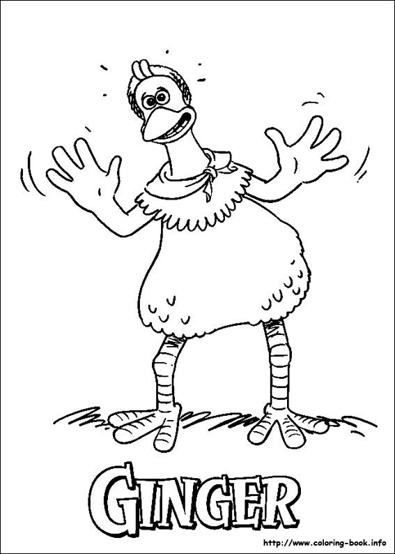 Ginger Coloring Page From Chicken Run