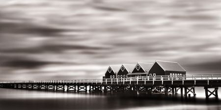 Interior Design and Home Decoration Artwork from Art Australia - buy this original signed print in 3 sizes.  Mystical Jetty by David Rennie available via http://www.art-australia.com/mystical-jetty-by-david-rennie/