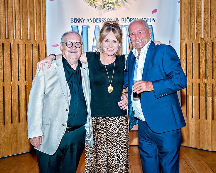 Tommy Cannon and Bobby Ball with Emmerdale's Michelle Hardwick.  We ❤️ this f-ABBA-lous photo from the MAMMA MIA! UK Tour's Press Night on 31 May 2017 at Leeds Grand Theatre.  For all MAMMA MIA! UK Tour dates and tickets visit: www.mamma-mia.com  Photo by Anthony Robling.  #MammaMiaMusical #MammaMiaUKTour #Leeds #PressNight