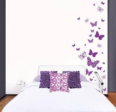 Resultado de imagen para figuras de vinil para pared mariposas