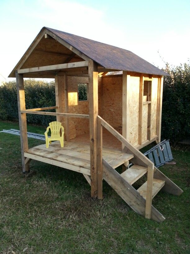 11 best Idée Cabane images on Pinterest Building, For kids and - Maisonnette En Bois Avec Bac A Sable