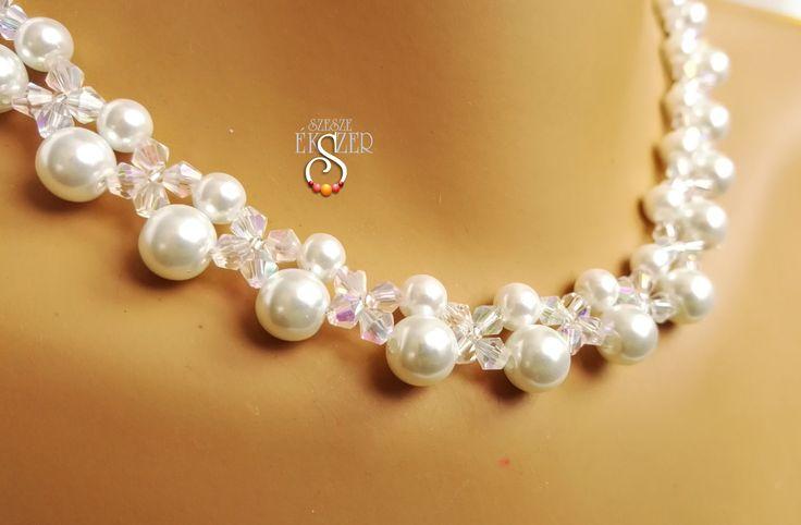 Kristályos menyasszonyi, esküvői ékszer szett, Wedding Jewelry set Etsy: EstherPearlShop