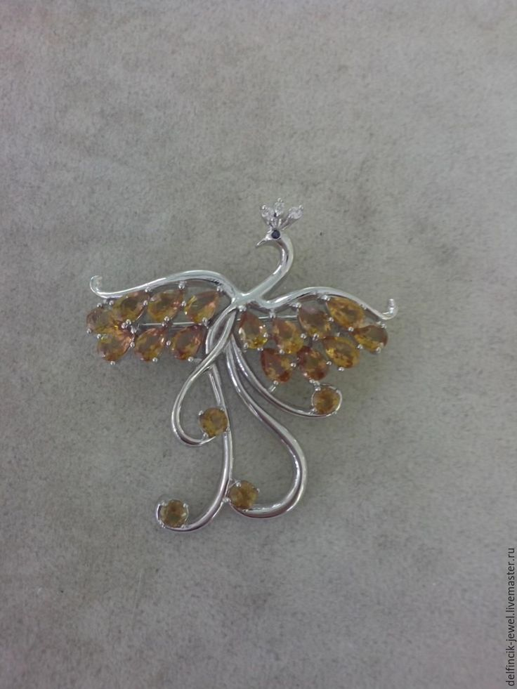 Купить Брошь из серебра с султанитом . Жарптица - разноцветный, брошь из серебра, серебряная брошка, птица брошка