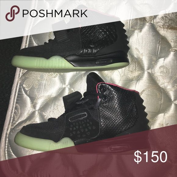 UA Yeezy 2 solar reds Good condition comes with bag and lace tips Yeezy Shoes Sneakers