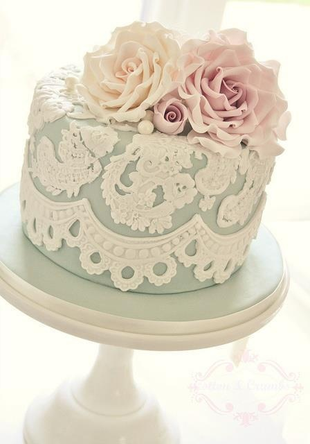 Lace on a cake? Looks amazing