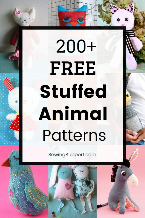 Stuffed Animal Pattern Free : stuffed, animal, pattern, Stuffed, Animal, Patterns, Patterns,, Sewing, Animals,, Pattern