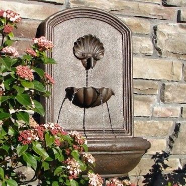 Superbe Weathered Bronze Napoli Outdoor Wall Fountain
