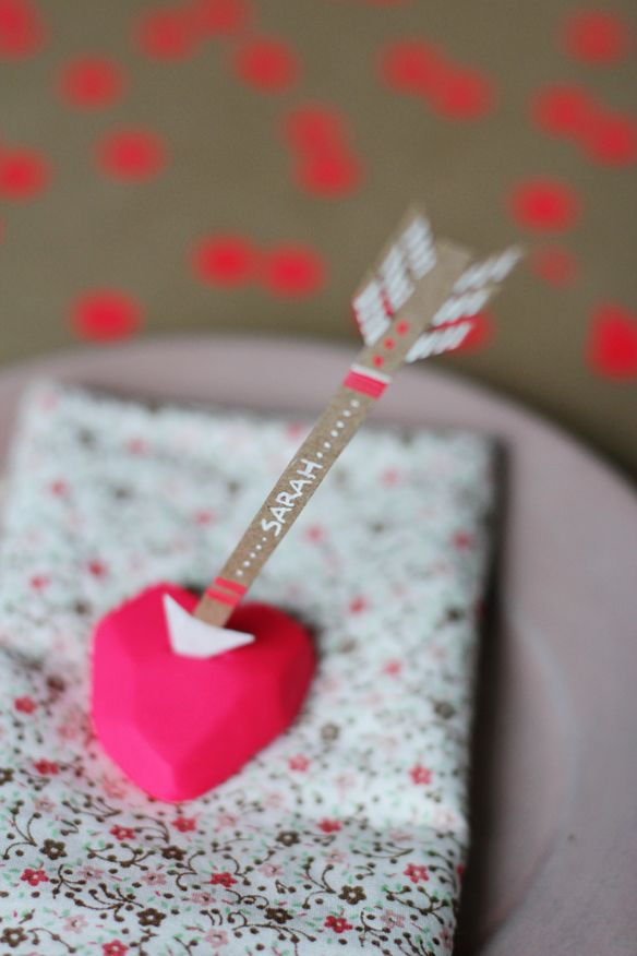 craft ideas for wedding place cards%0A DIY lovestruck place cards from Fellow Fellow
