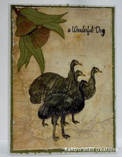 BaRb'n'ShEll Creations - Kaszazz Aussie Animals - Emu - BaRb