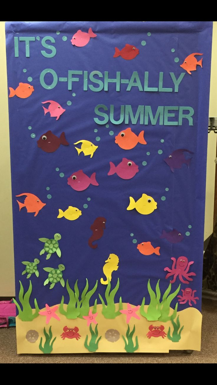 """Its O-Fish-Ally Summer"" Bulletin Board."
