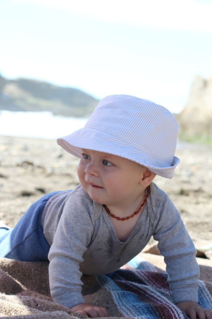 Baby Boy Fedora Sun Hat by Blue Corduroy.  So many cute stripes to choose from!