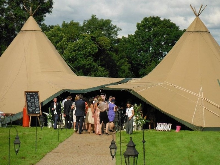 Two Tipis = more than double the space
