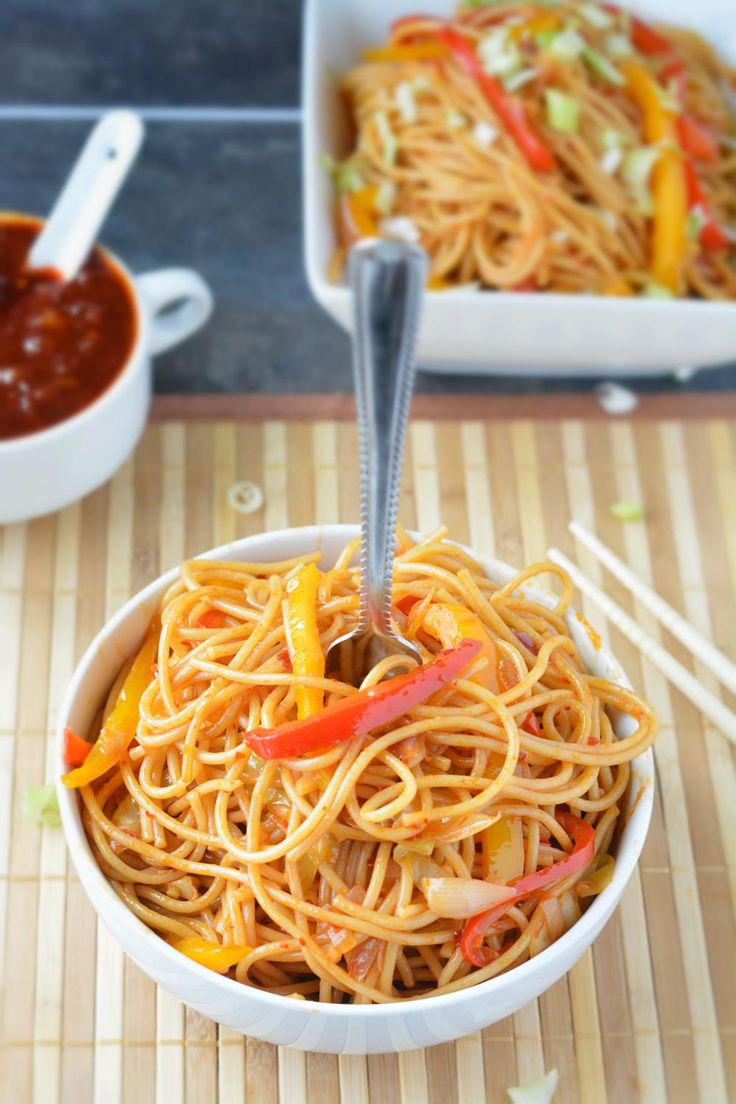 Step by step Veggie Szechuan Noodles with homemade Szechuan sauce. How to make schezwan noodles recipe. Indo Chinese spicy schezwan veggie noodles stir fried with veggies and sauces.
