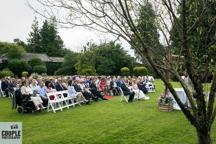 The outdoor ceremony in the beautiful gardens at Rathsallagh. Weddings at…