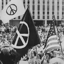 Image result for american flag with peace sign black and white