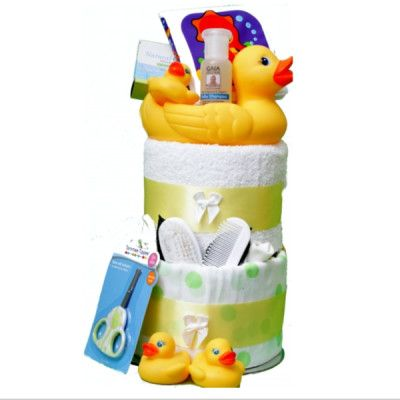 Baby Deluxe Duck Nappy Cake - Great present for 1st Birthdays!