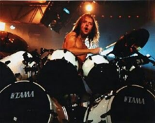 """Metallica's Lars Ulrich. I like Lars play drums on """"Disposable Heroes"""", """"Battery"""", """"The Things That Should Not Be"""" , and """"Damage.Inc"""" from """"Master of Puppets Album, """"The Shortest Straw"""", """"End Frayed of Sanity"""", """"Dyers Eve"""" from """"...And Justice For All"""" album, and all songs from Black Album, expecially intro from """"Strugle Within""""..."""