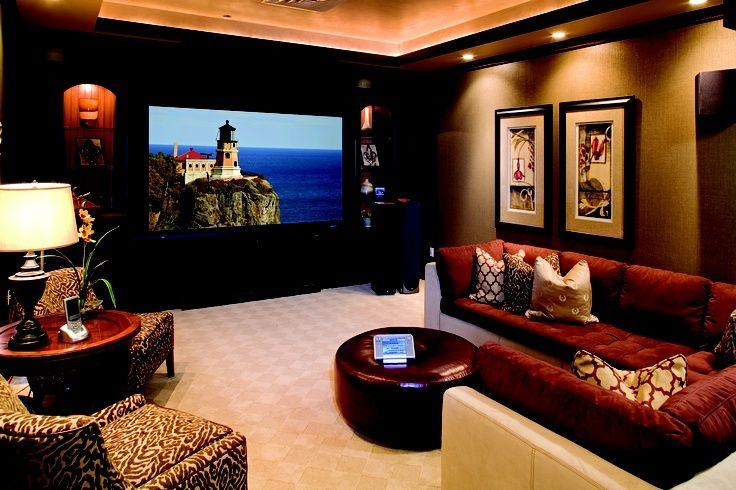 Basement remodel home theater designs lighting home theaters and design - Basement home theater design ...