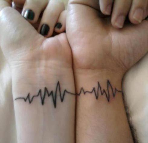 Modèle de tatouage complémentaire électro cardiogramme  https//tattoo.egrafla.fr/