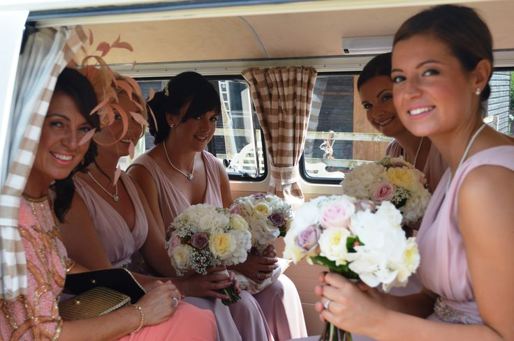 The VW Campervan: a great way to transport the wedding party