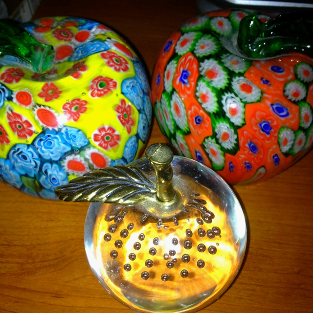 Apple paperweights!