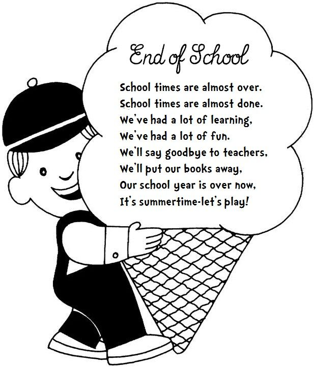 Image result for poems about the last days of school