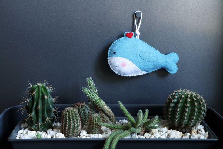 Felt whale | DIY