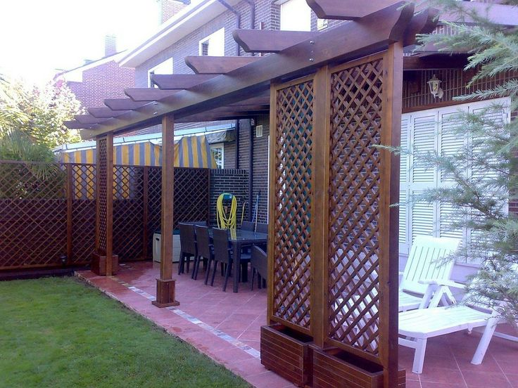 Pergolas pergojardin decoracion exterior de madera for Decoracion porches exteriores
